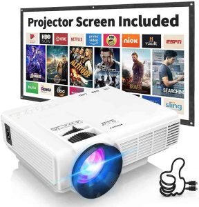 DRJ Professional 170inch Display Portable Projector