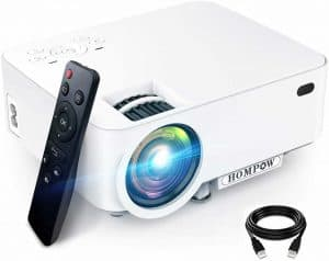 Mini Projector - 3600L Hompow Smartphone Portable Video Projector