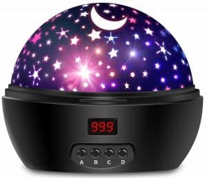 Hontry Baby Night Light Rotating Star Projector