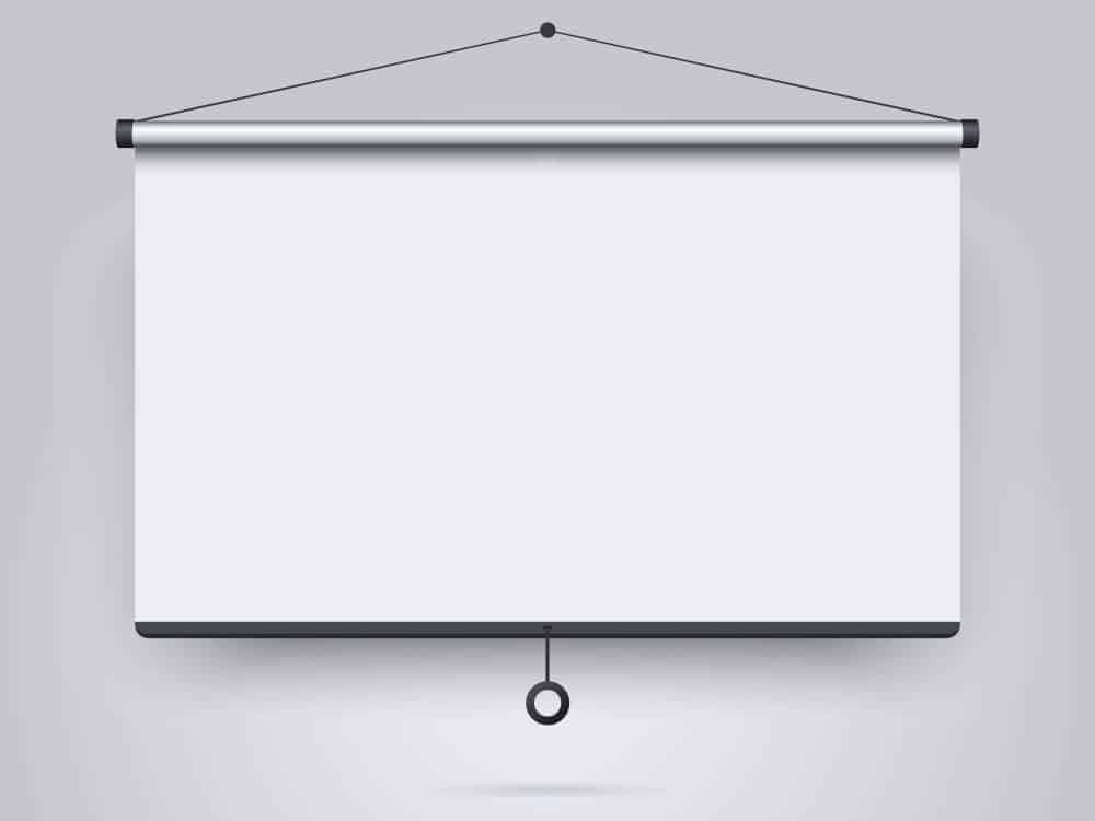 Mounting or Placing the Projector Screen
