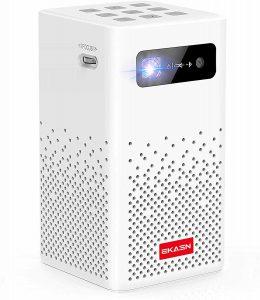 EKASN Mini Smart DLP Rechargeable Pico Projector