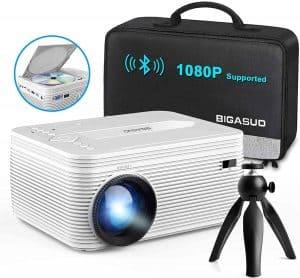 BIGASUO [2021 Upgrade] HD Bluetooth Projector